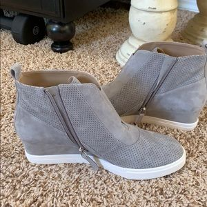 Linea Paolo wedge suede sneakers